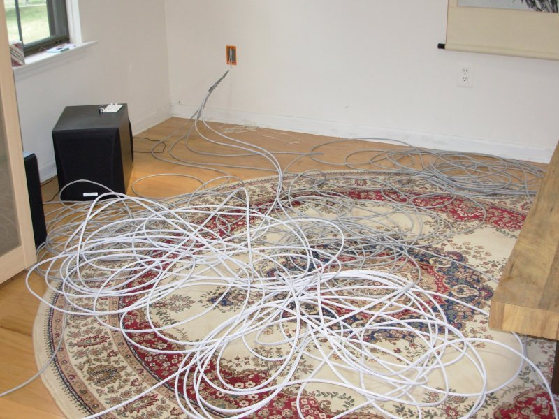 Photo of a mess of cables. : cat v wiring - yogabreezes.com